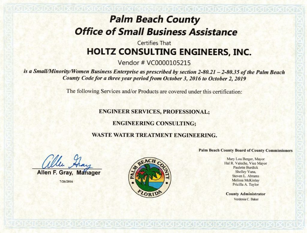 Certifications Holtz Consulting Engineers